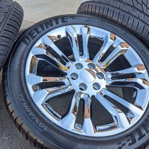 "Chrome 22"" Chevy Tahoe Silverado Wheels Tires GMC Yukon Sierra Rims for Sale in Indian Trail, NC"