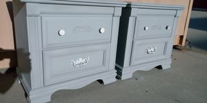 Newly refinished solid wood matching nightstand set for Sale in Salt Lake City, UT