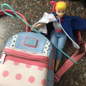 Disney Pixar Loungefly Toy Story Bo Peep mini collectible backpack 🎒 and talking Bo Peep doll for Sale in Torrance, CA