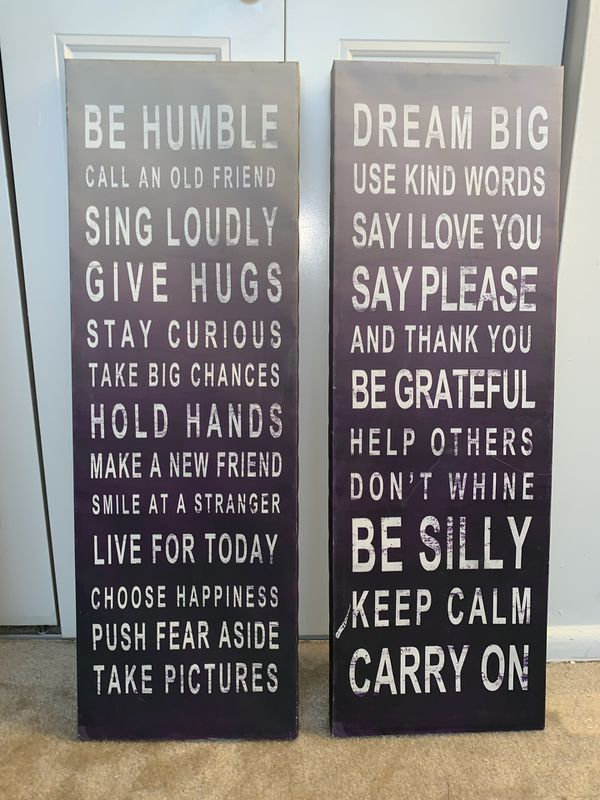 Inspirational wall and picture art