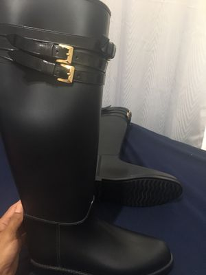 Burberry knee high rain/snow boots for Sale in Orlando, FL