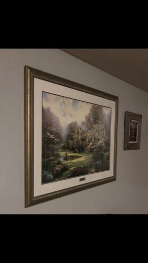 Thomas kinkade lithograph Painting with certificate of authenticity for Sale in Evansville, IN