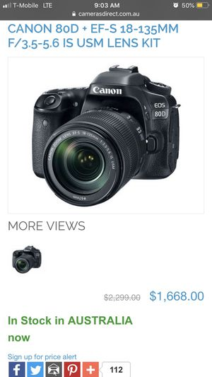 Canon 80D with extras!!! for Sale in Portland, OR