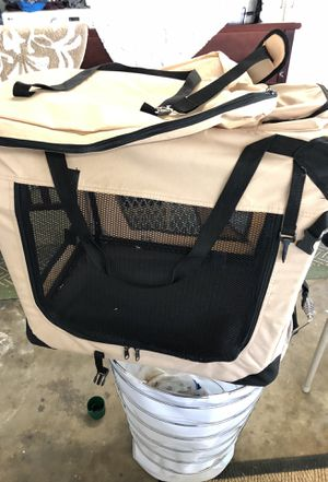 Very nice portable collapsible light weight dog kennel good for a dog up to 50 pounds for Sale in Los Angeles, CA