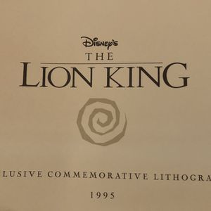 Lion King 1995 Lithography for Sale in Port Orchard, WA