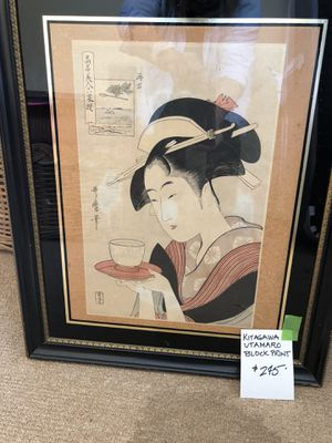 Japanese hand block print for Sale in Madison, CT