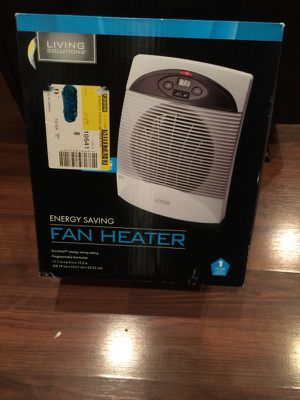 Living Solutions Brand New 11 Inch Energy Saving Fan Heater for Sale in Fuquay Varina, NC