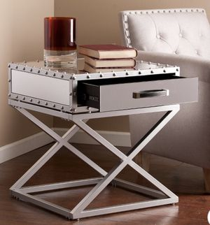 Lazio industrial mirrored end table for Sale in Seattle, WA