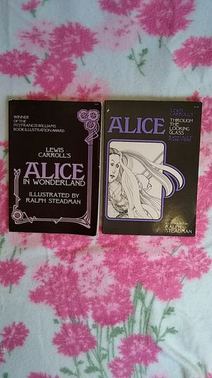 1973 First Edition Alice's Adventures In Wonderland & Alice Through The Looking Glass Illustrated by Ralph Steadman for Sale in Tacoma, WA