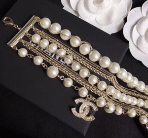 Custom hand made designer gold Pearl and Crystal bracelet for Sale in Queens, NY