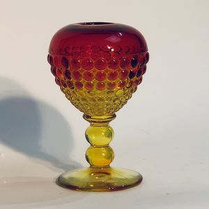 """Vintage Viking Glass Amberina Ancestral Ivy Ball Vase 6"""" SMALL CHIP SEE PICS for Sale in Tenino, WA"""