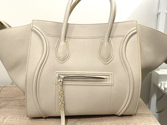 Celine phantom Luggage Tote Medium Creamy Grey for Sale in Boston,  MA