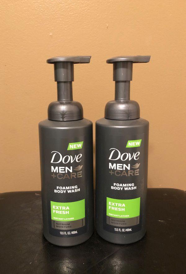 2 Dove men foaming body wash