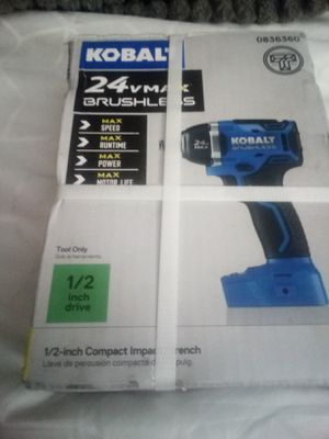 Brand new 24 volt brushless lithium ion kobalt impact wrench for Sale in Lake Elsinore, CA