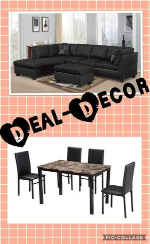 Black 2 Room Combo Set for Sale in Atlanta, GA