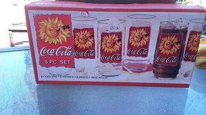 8 pack glass collectible Coca-Cola 1995 for Sale in Lodi, CA