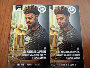 2 tickets Lakers vs. Clippers Section 115, Row 9 for Sale in Los Angeles, CA