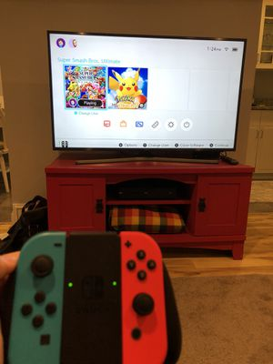 Nintendo Switch with Super Smash Bros and Pokémon Go for Sale in Washington, DC