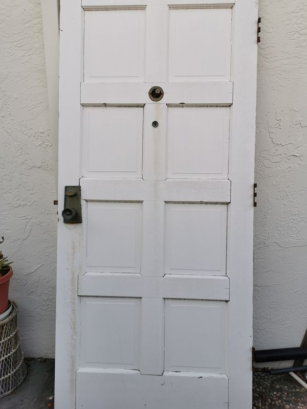 free Real wood front door 36x80 Need Four hands to carry