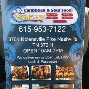 Fame-Us Caribbean & Soul Food for Sale in Nashville, TN