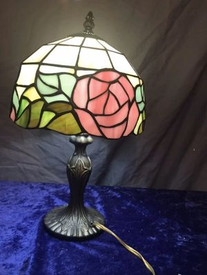 Tiffany style heavy stained glass lamp for Sale in Saint Robert, MO