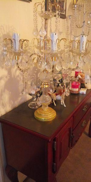 Homemade (candelabras) Chandelier lamp candle holder for Sale in Houston, TX