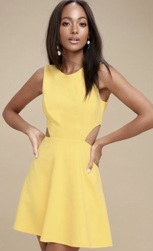 Yellow Cut Out Dress for Sale in Stockton, CA