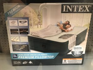 Intex queen air mattress still in box never used. Never opened. Asking 70 for Sale in Fontana, CA