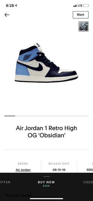 Looking for Jordan 1 obsidian for Sale in Portland, OR