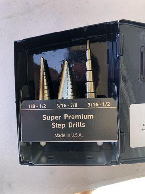 Premium Step Drill Set for Sale in Riverside, CA