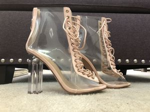 Rose Gold Clear Block Heels for Sale in Nashville, TN