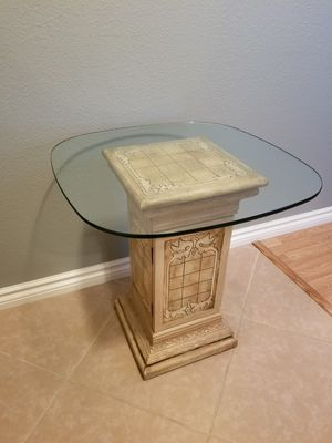 Glass Top End Table With Storage for Sale in Visalia, CA