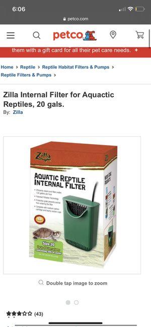 Aquatic reptile filter for Sale in Goleta, CA