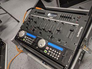 American Audio MCD-510 dj setup w/ Numark DM1200 Mixer for Sale in Port Orchard, WA