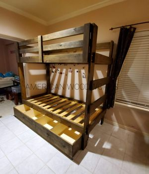 Twin over twin bunk bed with storage for Sale in Houston, TX