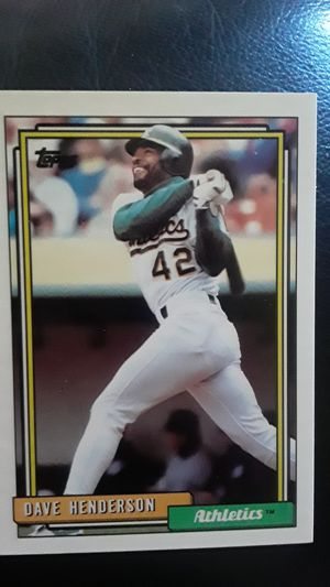 1992 Dave Henderson 335 baseball card for Sale in Madison Heights, MI