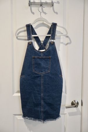 Blue suspender dress denim jeans overalls size S/M women girl school college for Sale in Arlington, VA