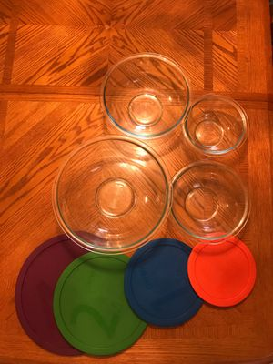 Pyrex 8 Piece Glass Tupperware Storage Set for Sale in Miami, FL