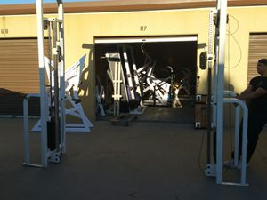 Gym equipment benches and cable weights machine for Sale in Yorba Linda, CA