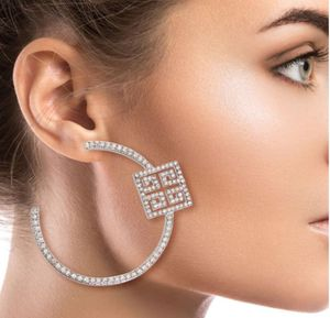 Silver Versace Rhinestone Hoops for Sale in Lynnwood, WA