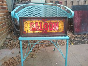 Lighted Saloon sign--- by. A Go Go Vintage for Sale in St. Louis, MO