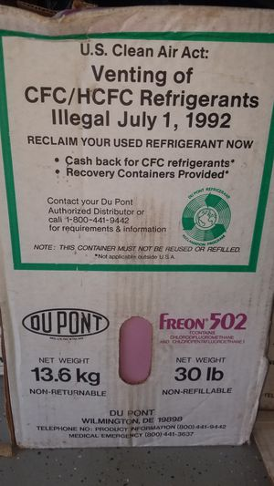 Freon r502 for Sale in Perris, CA