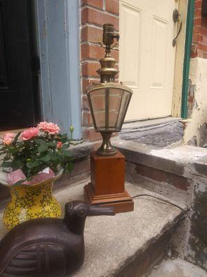 Grear antique bronze lantern table light for Sale in Philadelphia, PA