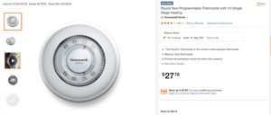 Honeywell Thermostat - new for Sale in Ridgefield Park, NJ