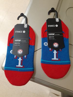 (2) Pair Texas Rangers MLB Stance No-Show Socks for Sale in Chula Vista, CA