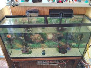 Aquarium 80 gallons nice no issue everything for Sale in San Diego, CA
