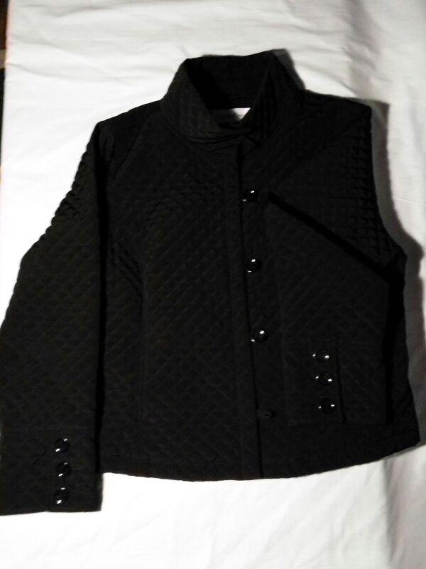 Women's XL Calvin Klein black quilted jacket