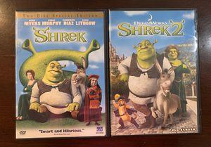 Shrek & Shrek 2 DVDs for Sale in Tempe, AZ
