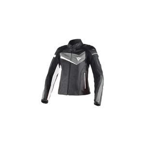 New Dainese women's Leather Veloster Black and White motorcycle jacket for Sale in San Francisco, CA