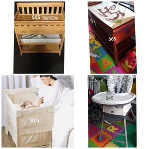 Baby Furniture- Changing Tables, Highchair & Bedside Cosleeper- Price is on the Picture- for Sale in Branford, CT